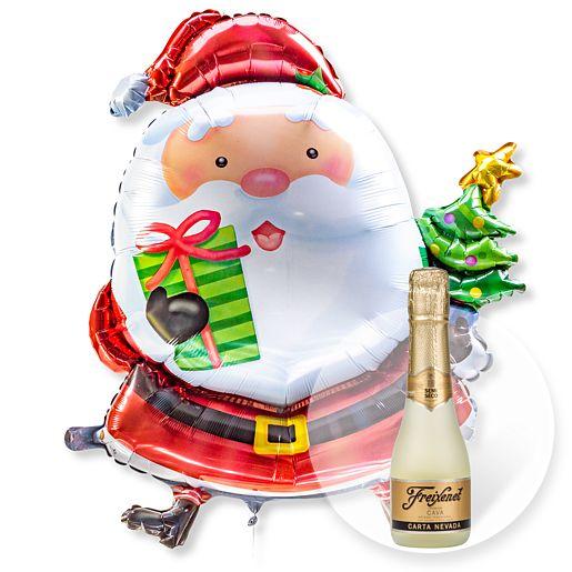 Partybedarfballons - Riesenballon Santa Claus und Freixenet Semi Seco - Onlineshop Valentins