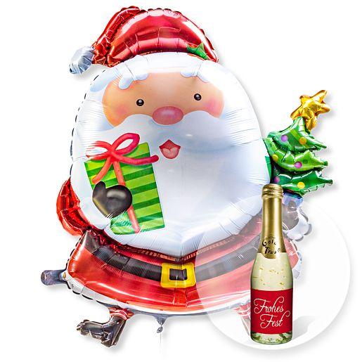 Riesenballon Santa Claus und Xmas Goldtraum Piccolo