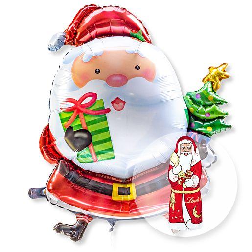 Riesenballon Santa Claus und Lindt Weihnachtsmann