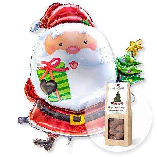 Riesenballon Santa Claus und Trüffelmandeln