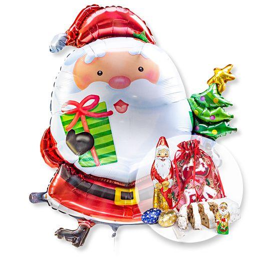 Partybedarfballons - Riesenballon Santa Claus und Süßer Adventsgruß - Onlineshop Valentins