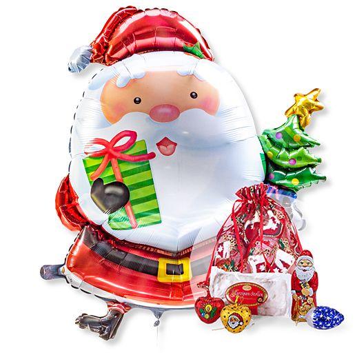 Riesenballon Santa Claus und Süßer Weihnachtsgruß