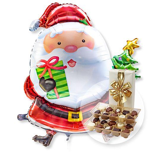 Riesenballon Santa Claus und Belgische Pralinen