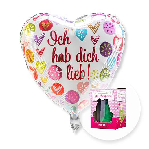 Ballon Ich hab dich lieb! und Mein magischer Märchenprinz
