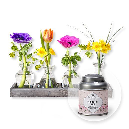 Vasen-Set Frühlingszauber und Tafelgut Für Dich Tee