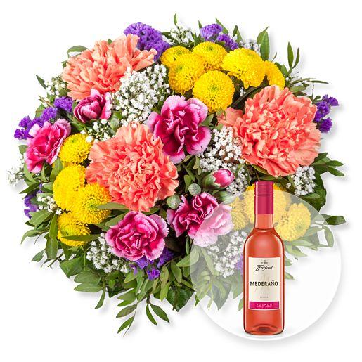 Nützlichblumen - Lieber Gruß und Freixenet Mederano Rosado - Onlineshop Valentins