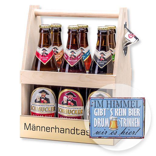 Bierträger Männerhandtasche inklusive Sixpack B...