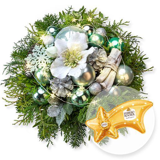 Weihnachtsglanz mit Lichterkette und Ferrero Rocher Sternschnuppe