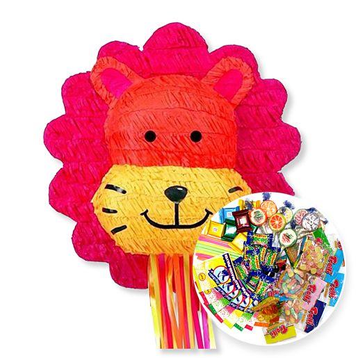 Pinata Löwe (49 Zentimeter) und Pinata-Süßigkeiten-Set
