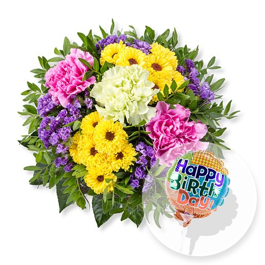 Bolero und Miniballon Happy Birthday