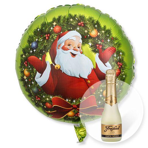 Ballon Nostalgie Santa und Freixenet Semi Seco