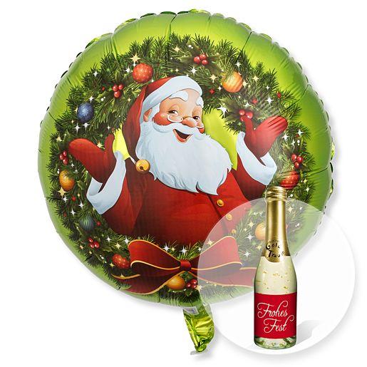 Ballon Nostalgie Santa und Xmas Goldtraum Piccolo