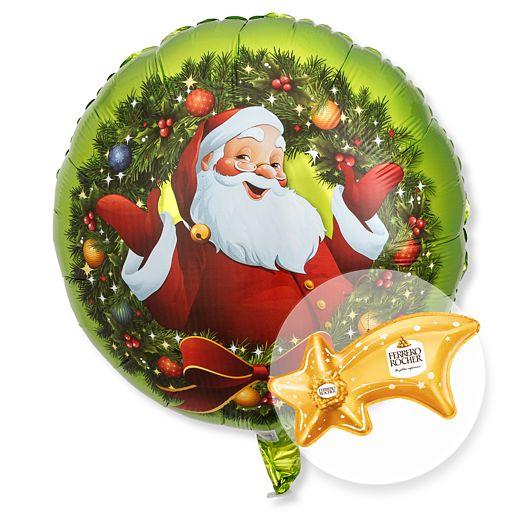 Ballon Nostalgie Santa und Ferrero Rocher Sternschnuppe