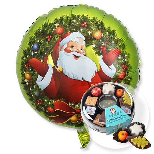 Ballon Nostalgie Santa und Adventskaffee