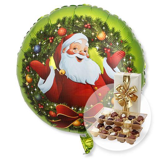 Partybedarfballons - Ballon Nostalgie Santa und Belgische Pralinen - Onlineshop Valentins
