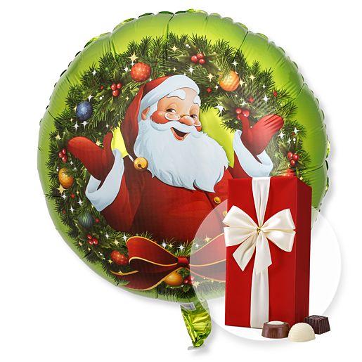 Ballon Nostalgie Santa und Belgische Pralinen