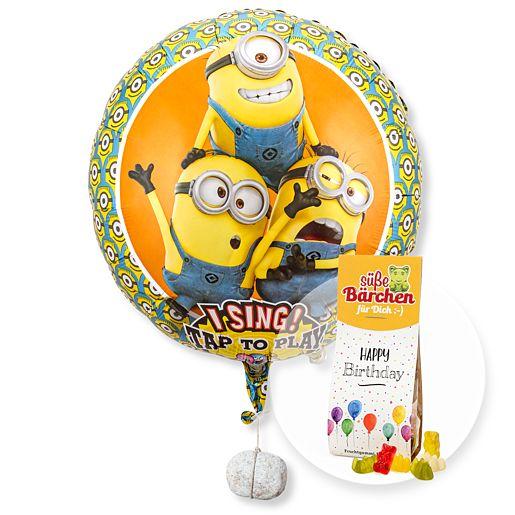 Partybedarfballons - Singender Ballon Geburtstagsgrüße lachende Minions und Fruchtsaftbären Happy Birthday - Onlineshop Valentins