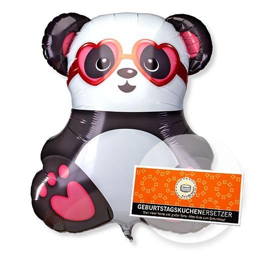 Partybedarfballons - Riesenballon Panda in Love und Schokolade Geburtstagskuchenersetzer - Onlineshop Valentins