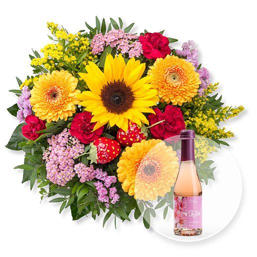 Süße Sommerfreude und Kirschblüten Secco