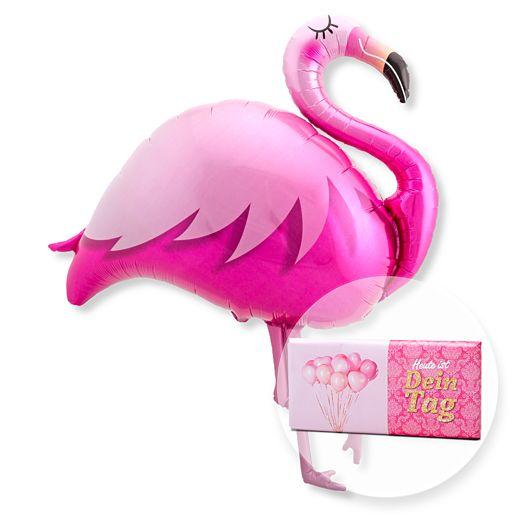 Riesenballon Flamingo und Schokolade Dein Tag