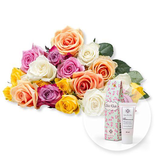 20 bunte Rosen und Blütenrausch Pfingstrosen-Ha...