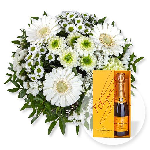 Petit Blanc und Champagner Veuve Clicquot