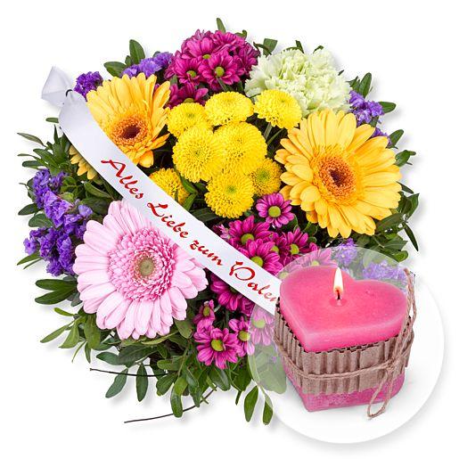 Alles Liebe und Schleife: Alles Liebe zum Valentinstag! und Herz-Kerze