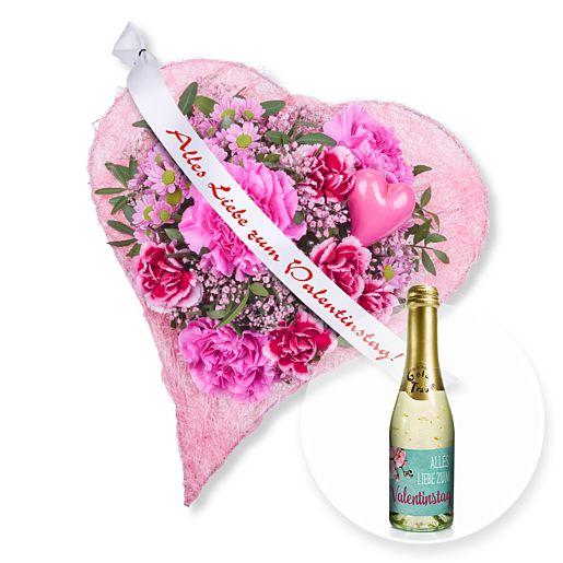 Herzenssache und Schleife: Alles Liebe zum Valentinstag! und Valentinstags-Piccolo