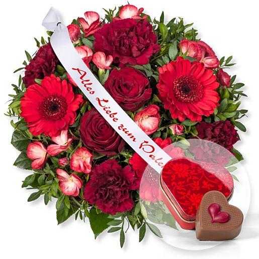 Glücksgefühl und Schleife: Alles Liebe zum Valentinstag! und Nougat-Herzpraline in Herzdöschen