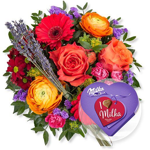 - Farbenfreude und I love Milka Pralinés - Onlineshop Valentins