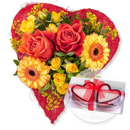 Sweetheart und Herzkerzen in Geschenkpackung