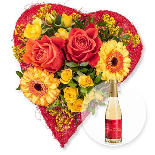 Sweetheart und Rosenblüten-Secco Alles Liebe zum Valentinstag