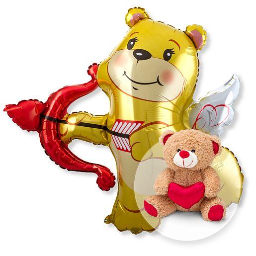 Riesenballon Amors Bär und Love-Teddy