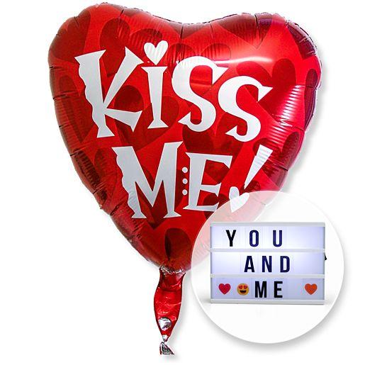 Ballon Kiss me und Lichtbox