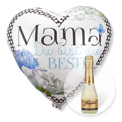 Riesenballon Mama Du bist die Beste und Freixenet Semi Seco