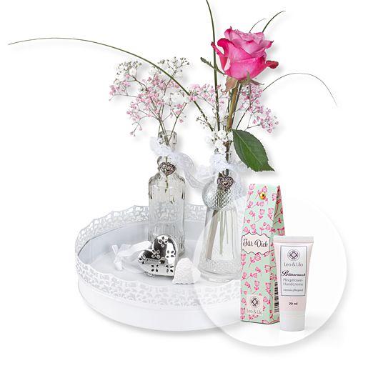 Vasen-Set Rosenzauber und Blütenrausch Pfingstrosen-Handcreme Für Dich