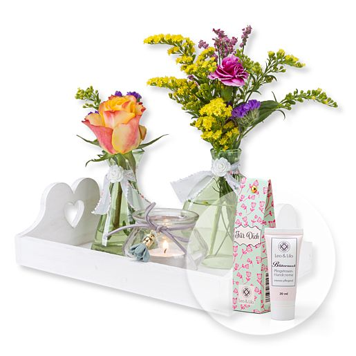 Vasen-Set Alles Liebe und Blütenrausch Pfingstrosen-Handcreme Für Dich