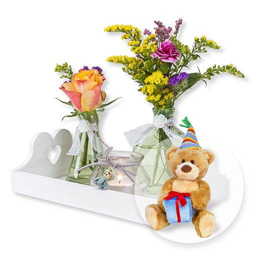 Vasen Set Alles Liebe und Glückwunsch Teddy