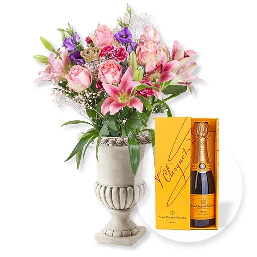 Pink Elegance und Champagner Veuve Clicquot
