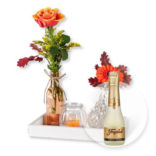 Vasen Set Herbstfreude und Freixenet Semi Seco