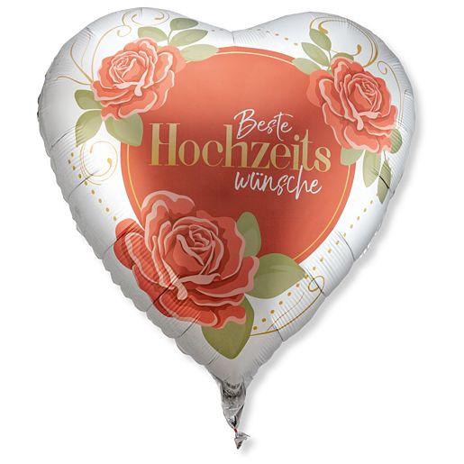 Partybedarfballons - Riesenballon Beste Hochzeitswünsche - Onlineshop Valentins