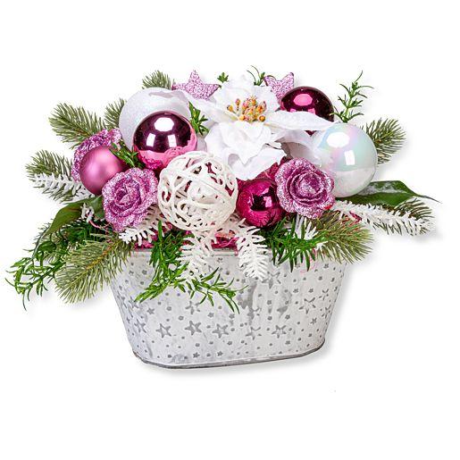 - Adventsgesteck Pinke Freude - Onlineshop Valentins