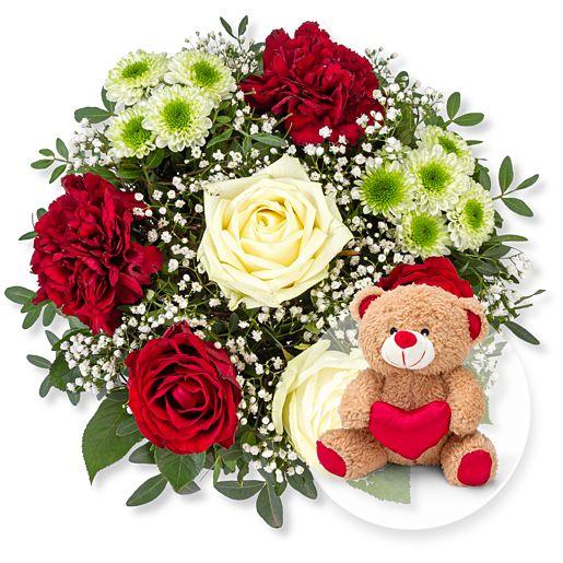 Nützlichblumen - Romance und Love Teddy - Onlineshop Valentins
