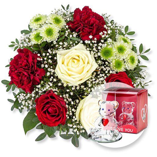 - Romance und Glasbär mit Herz - Onlineshop Valentins