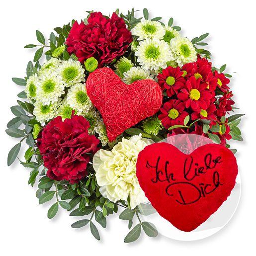 Nützlichblumen - Herzensgruß und Kuschel Herz Ich liebe Dich - Onlineshop Valentins