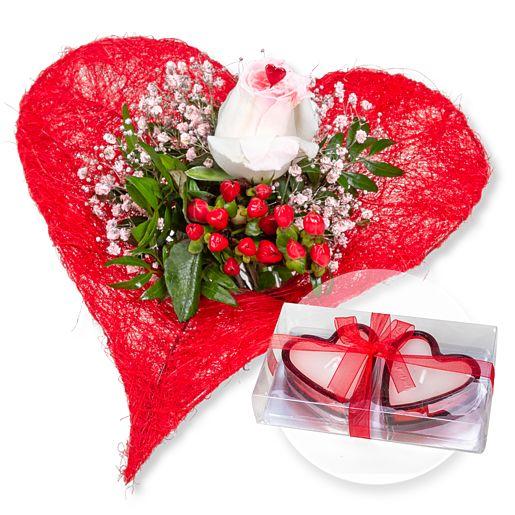 - Forever und Herzkerzen in Geschenkpackung - Onlineshop Valentins
