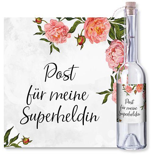 Individuellbesonders - Flaschenpost Superheldin - Onlineshop Valentins