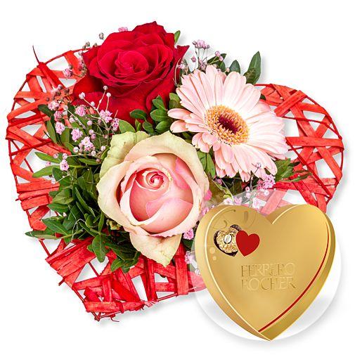 - Herzenssache und Ferrero Rocher Herz - Onlineshop Valentins