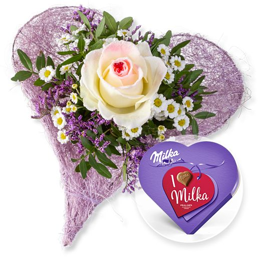 - Mamas Liebling und I love Milka Pralinés - Onlineshop Valentins