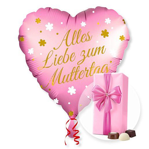 Partybedarfballons - Ballon Alles Liebe zum Muttertag und Belgische Pralinen - Onlineshop Valentins
